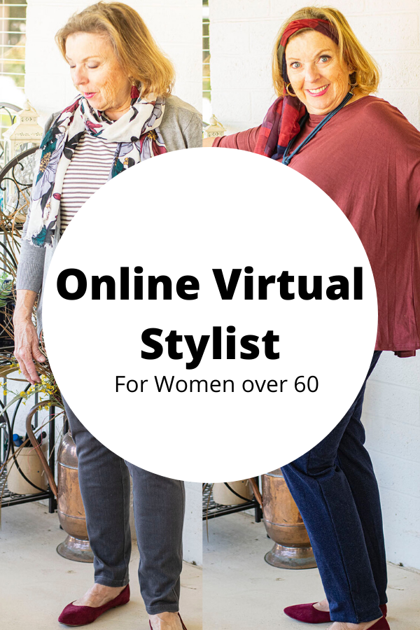Working with an online virtual stylist