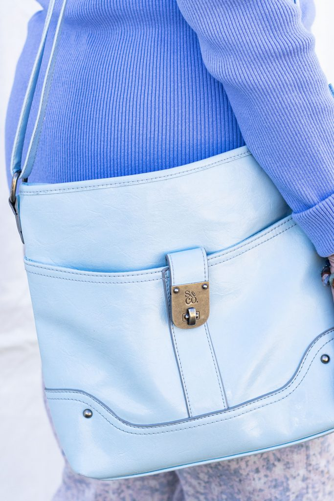 Blue Purse to match an outfit