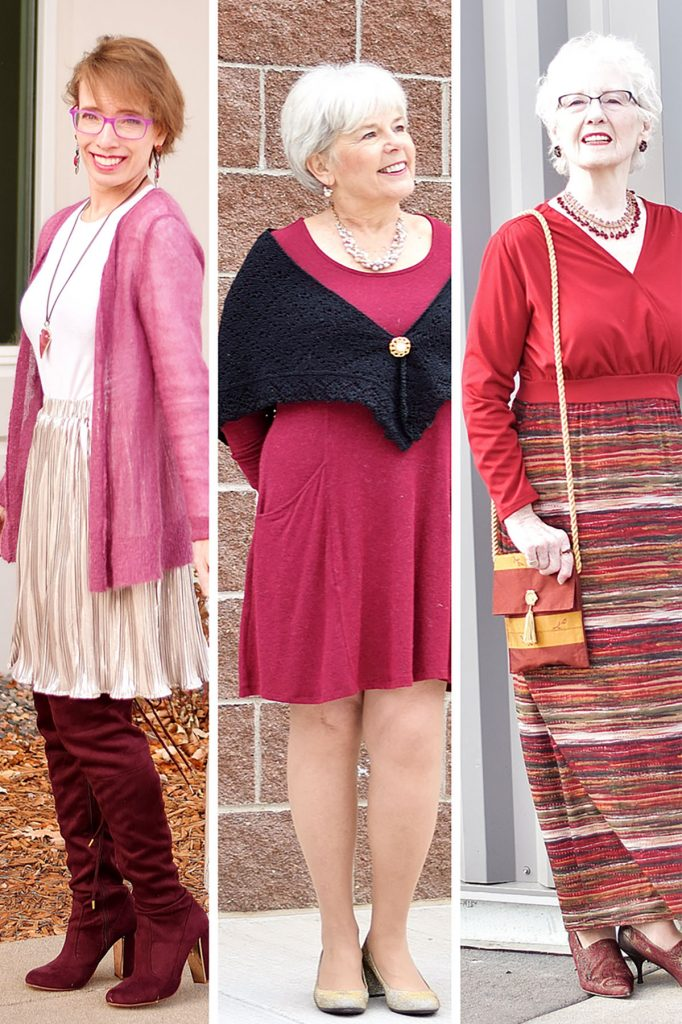 Different nice winter outfits for older women