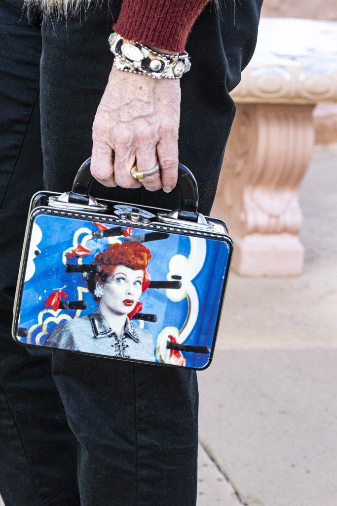 Using a lunch box as a purse