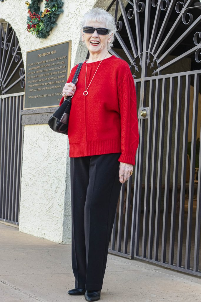 Basic black and red outfit