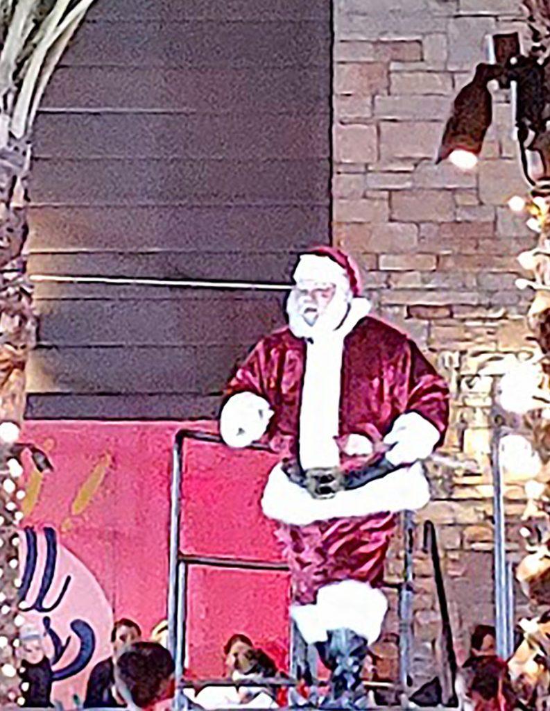 Santa for holiday lights Phoenix