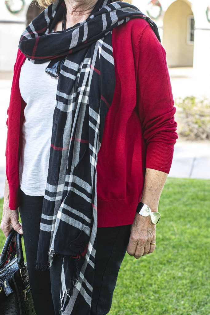 Casual style for a red cardigan outfit