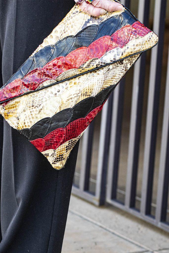 Snakeskin purse for sass