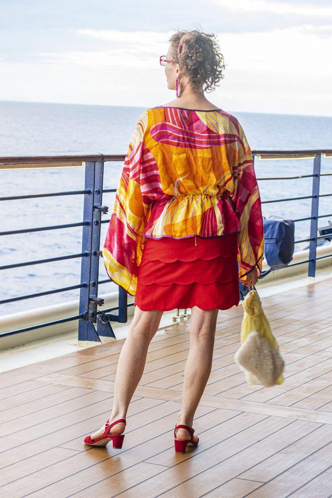 Red skirt looks for women over 50