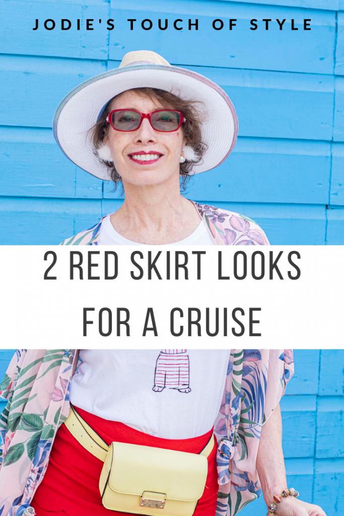Red skirt Looks 2 Ways