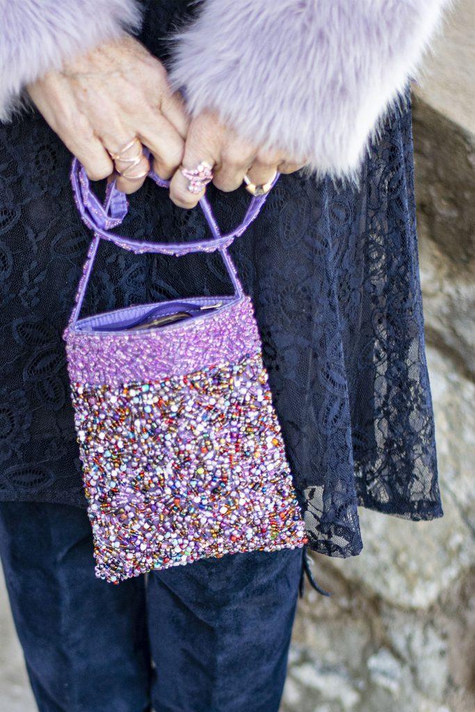 Beaded purse that looks vintage