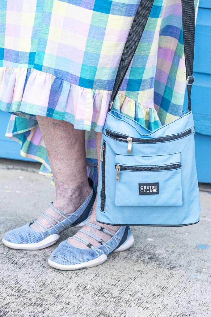 Blue purse for casual
