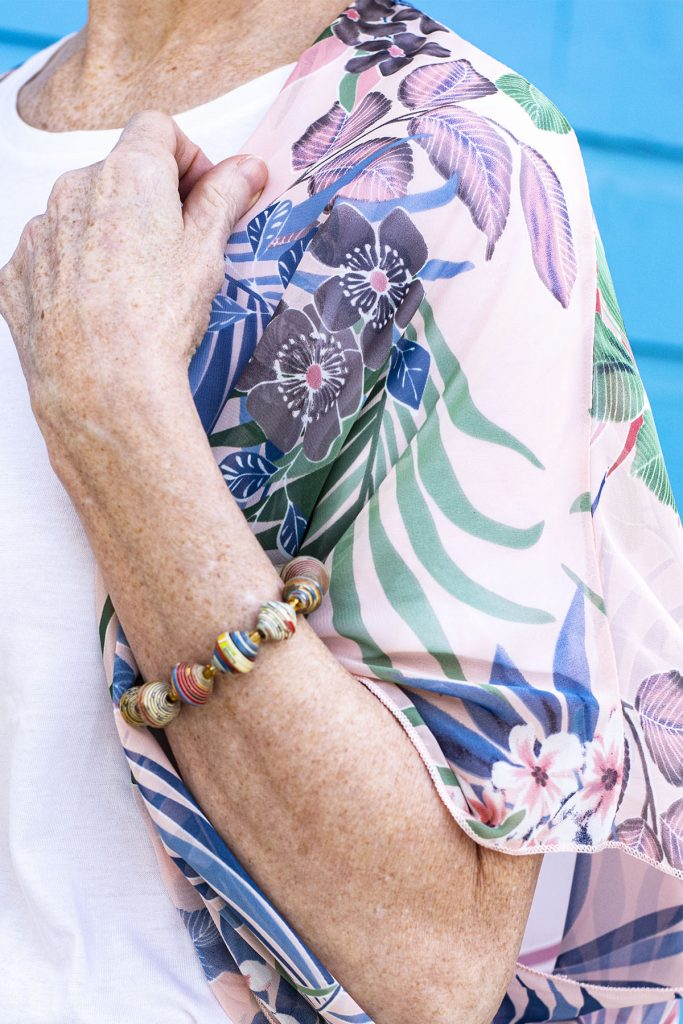 Accessories for pink kimono