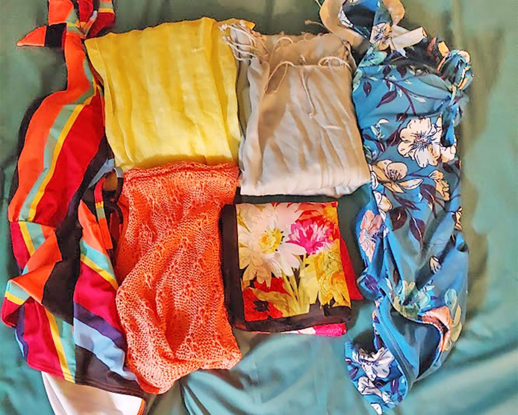 Swim and scarves