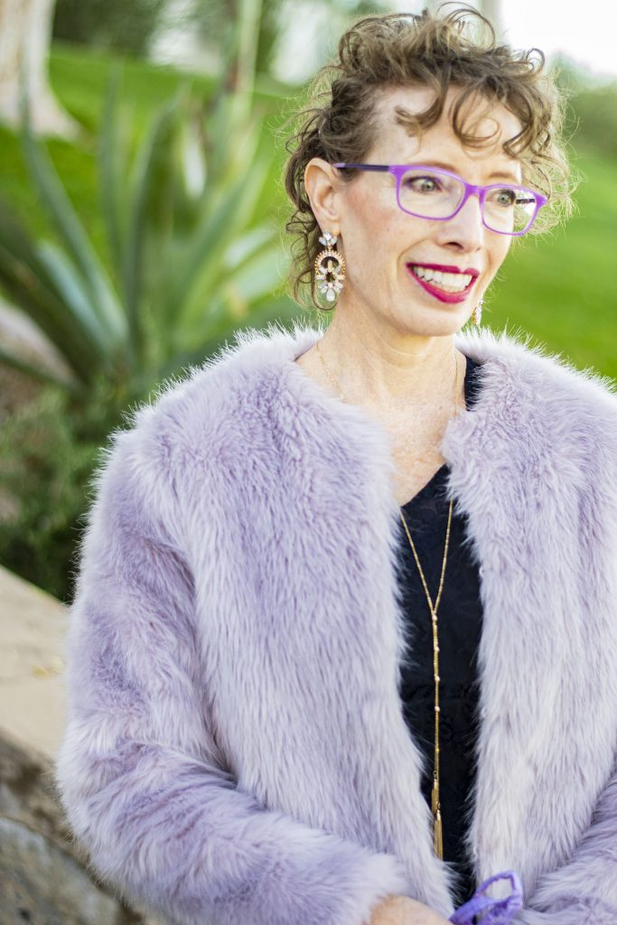 How to dress vintage chic with faux fur