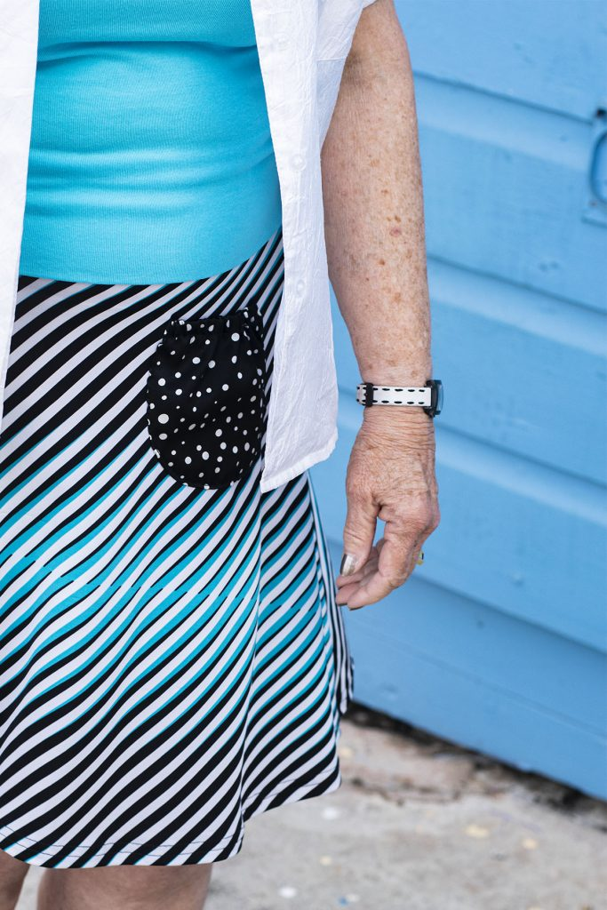 Print mixing in your skirt