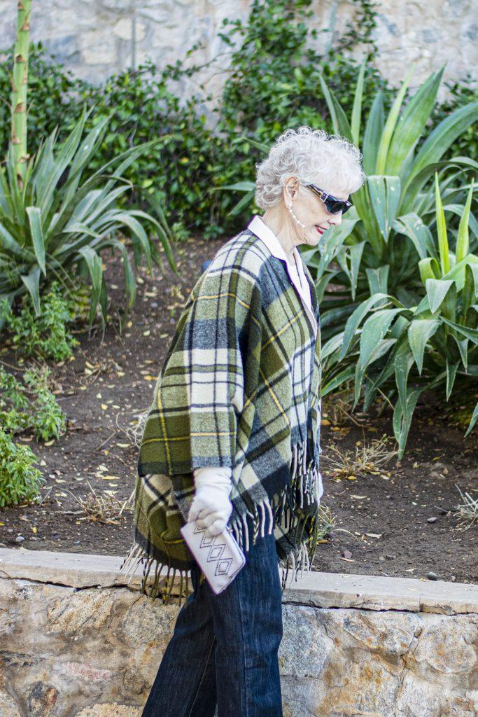 An older wrap scarf made modern