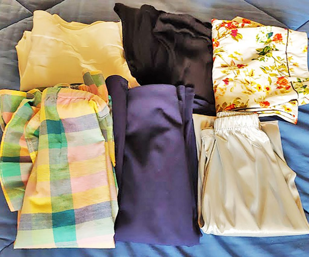 Pants and skirts for a woman in her 80 on a cruise
