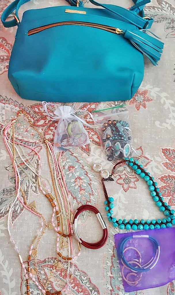 Accessories when packing for a Caribbean cruise