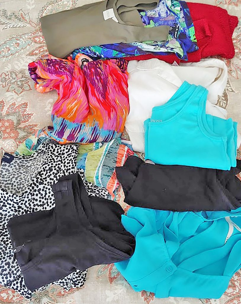 Nancy's tops for our cruise