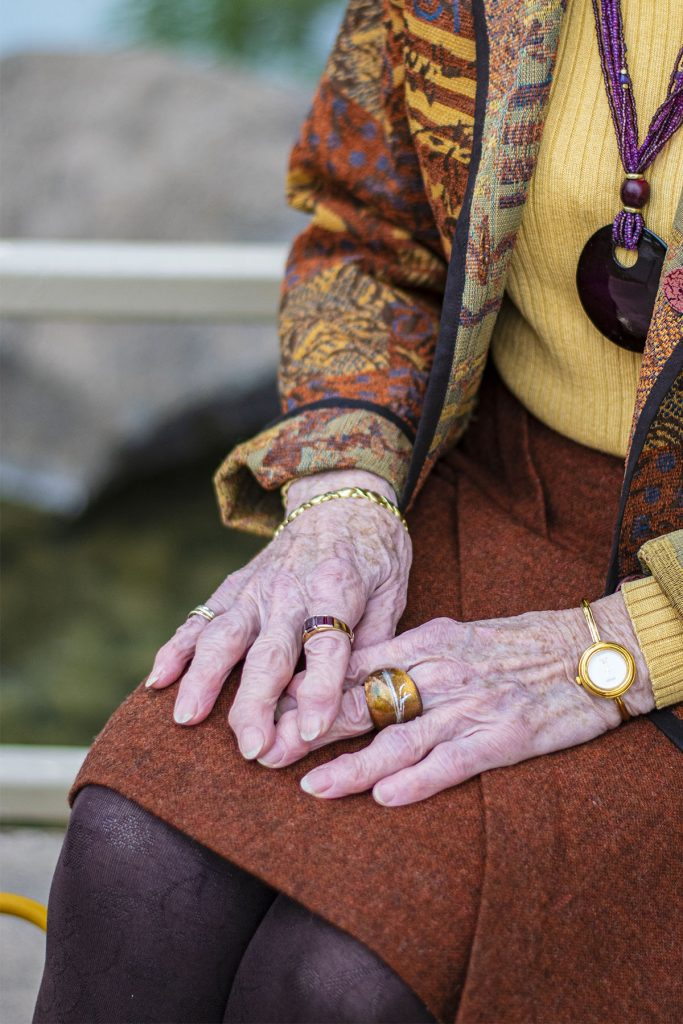 Rings on older fingers