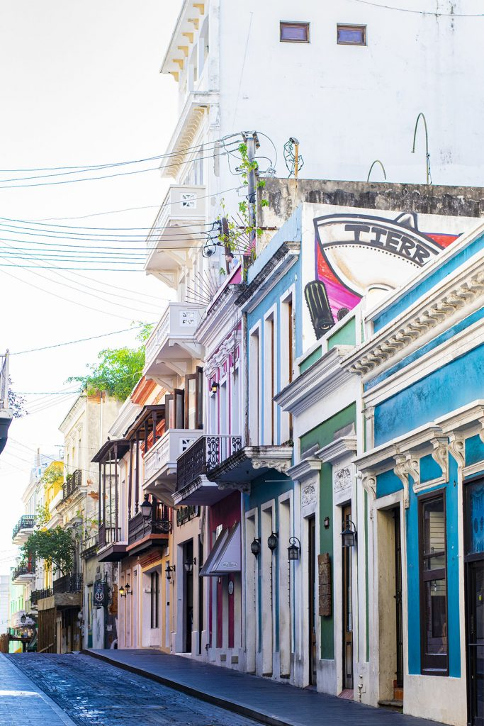 Colorful streets of San Juan