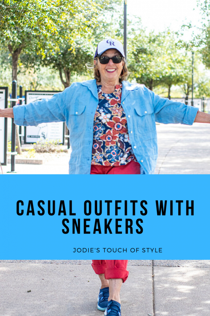 Having fun with casual outfits and sneakers