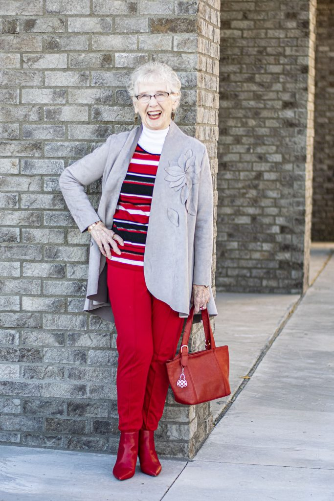 How to style red boots and red pants