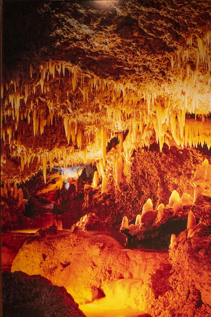 Inside Harrison's cave