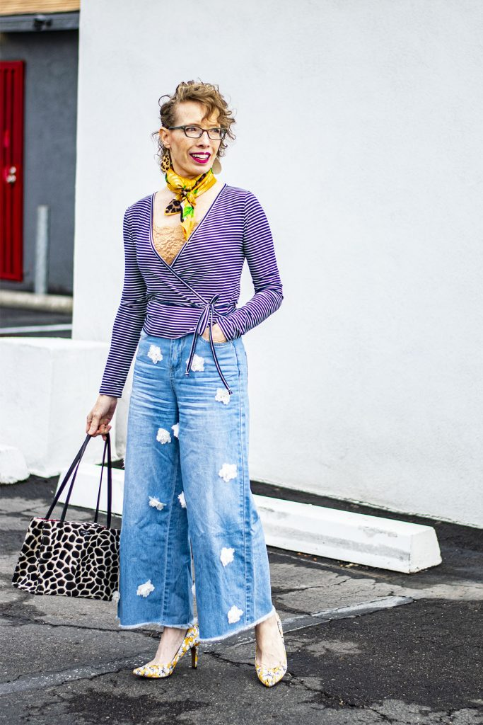 Bralette as one way of how to style a wrap top