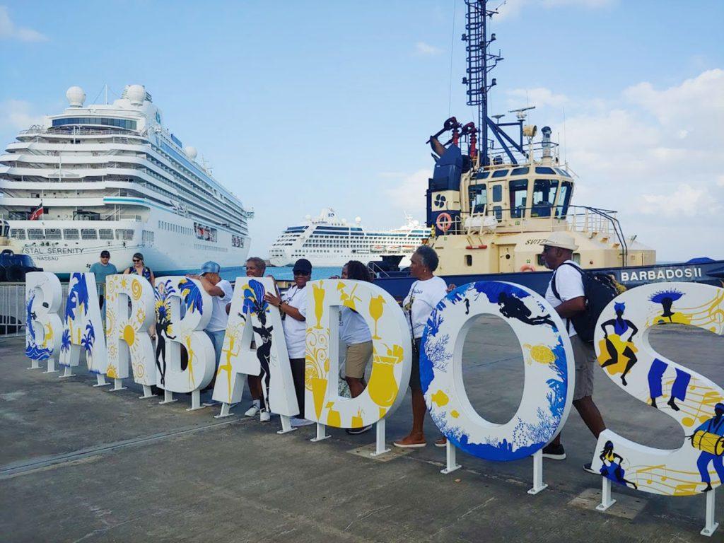 At port in Barbados