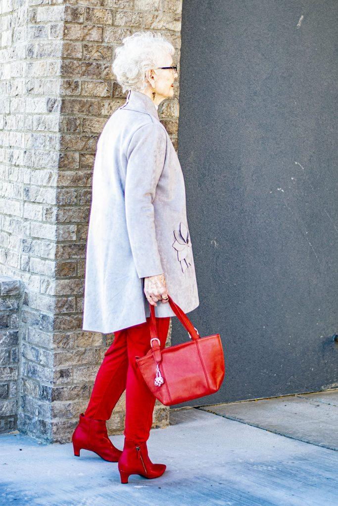 How to style red boots for any age woman