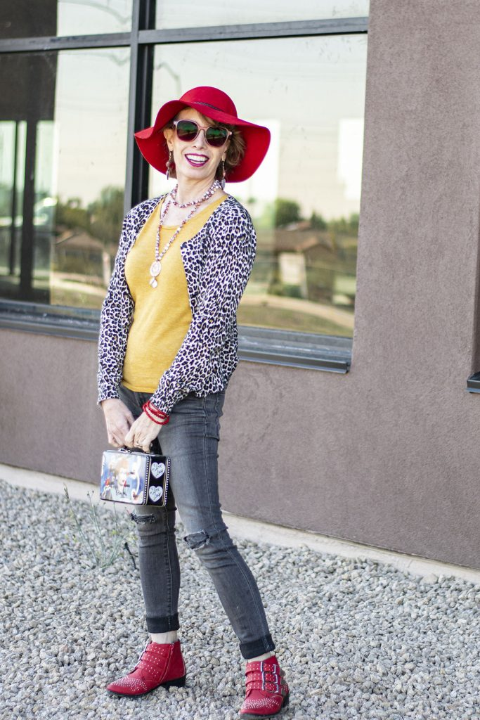 Leopard outfits with red booties