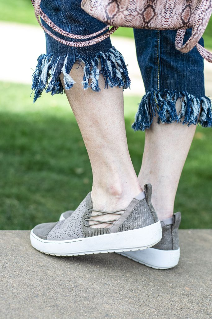 Cut out sneakers for spring