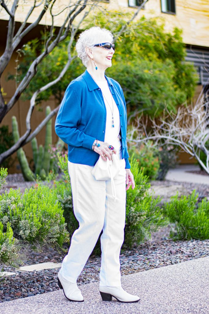 Woman over 80 and how to match jewelry