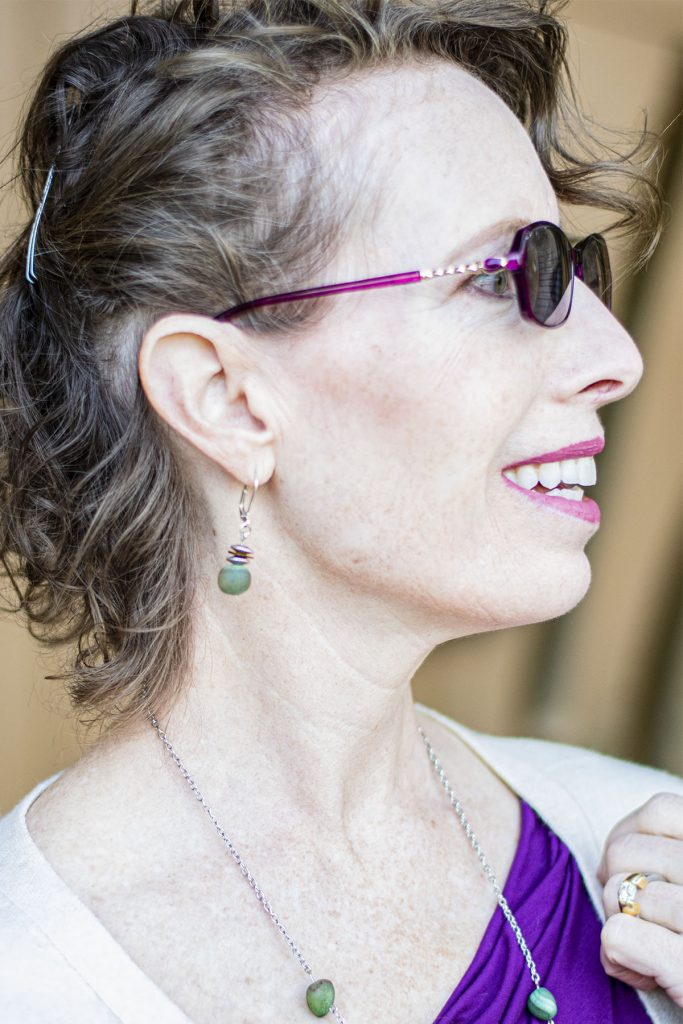 Solid sister earrings from Birdsong designs