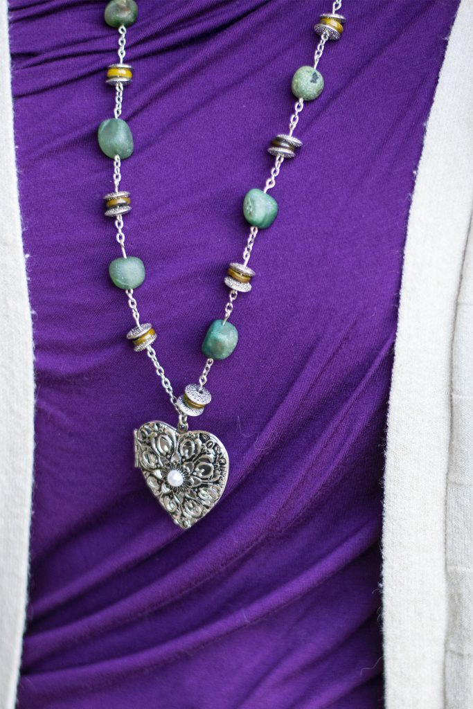 Birdsong necklace with tips for accessorizing an outfit