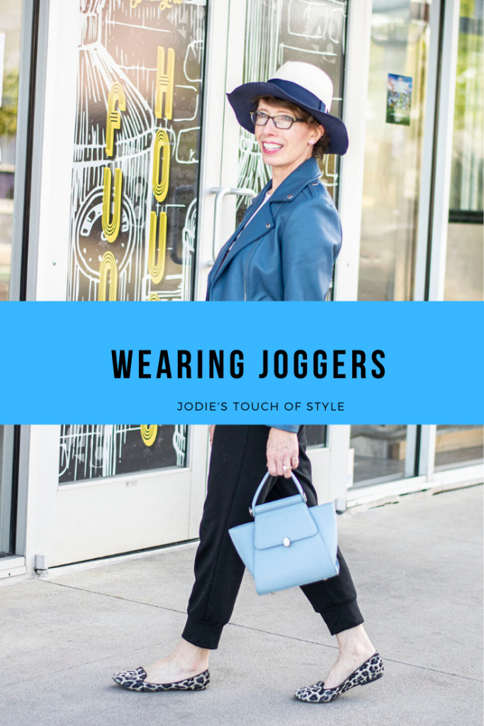 Wearing joggers for a cute look