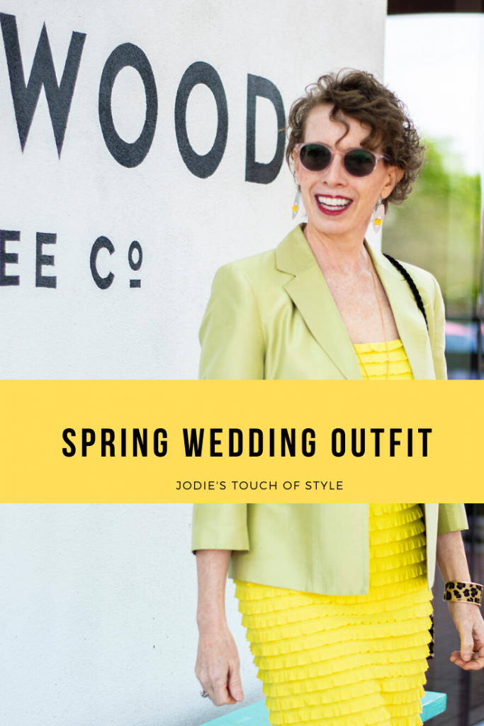 Spring wedding outfit for older women