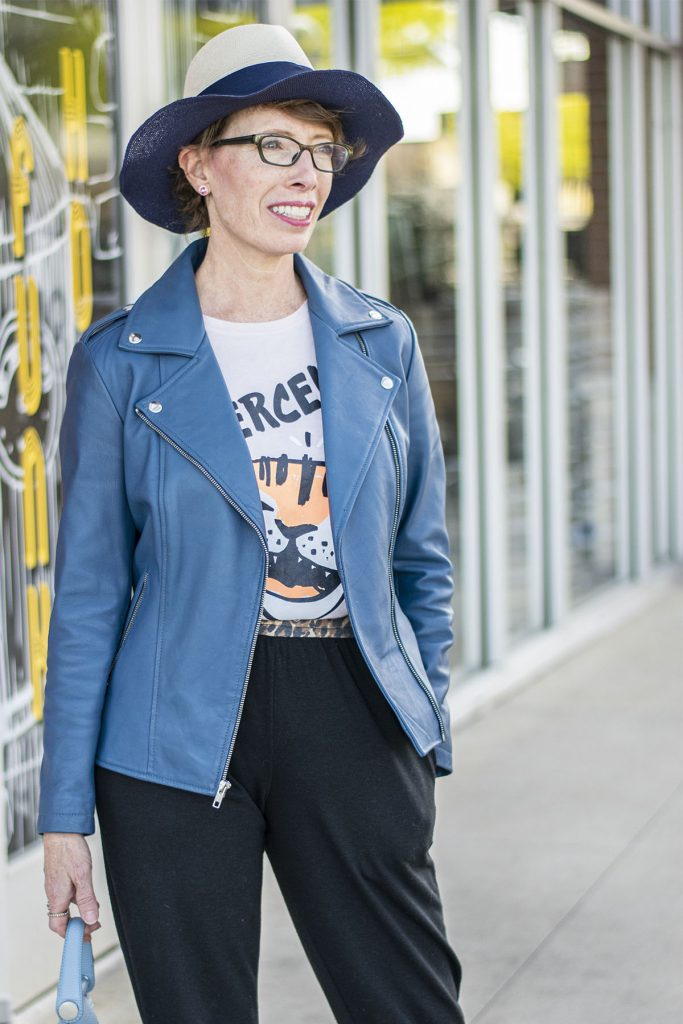 Woman over 50 wearing joggers