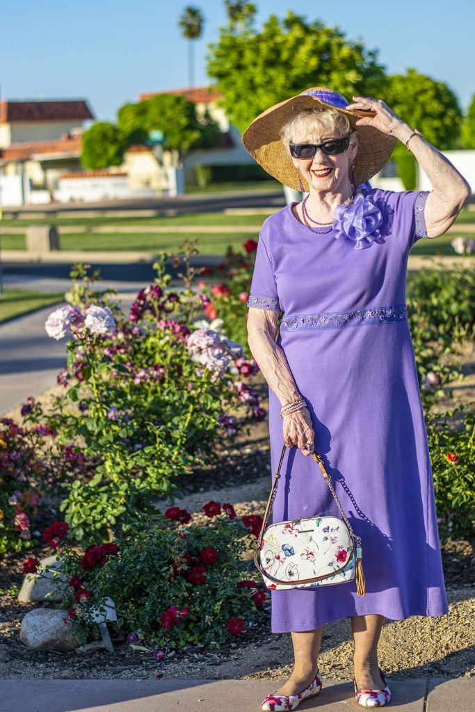 Lilac dress for mother's day style