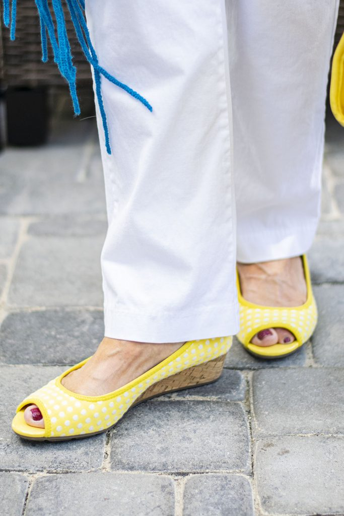 Yellow shoes for summer