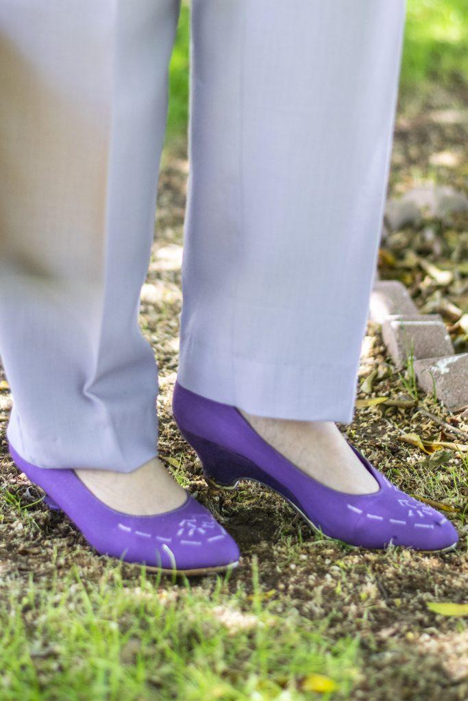 Purple shoes as floral inspiration