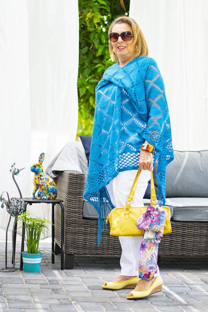 Crochet poncho for women over 60
