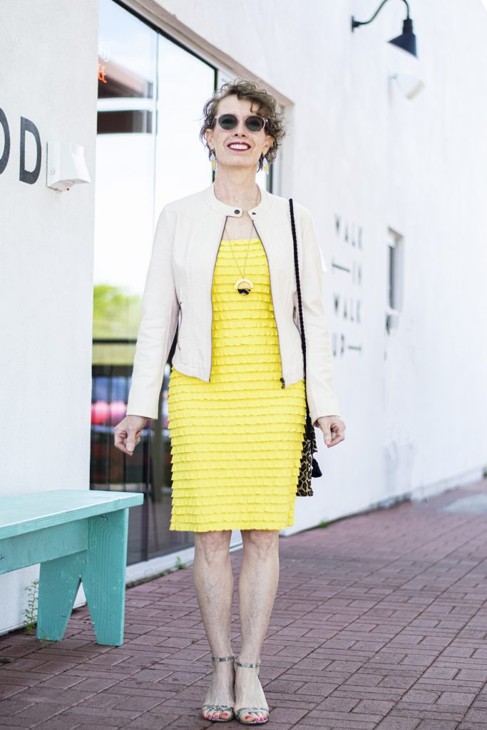 Already in your closet, a spring wedding outfit