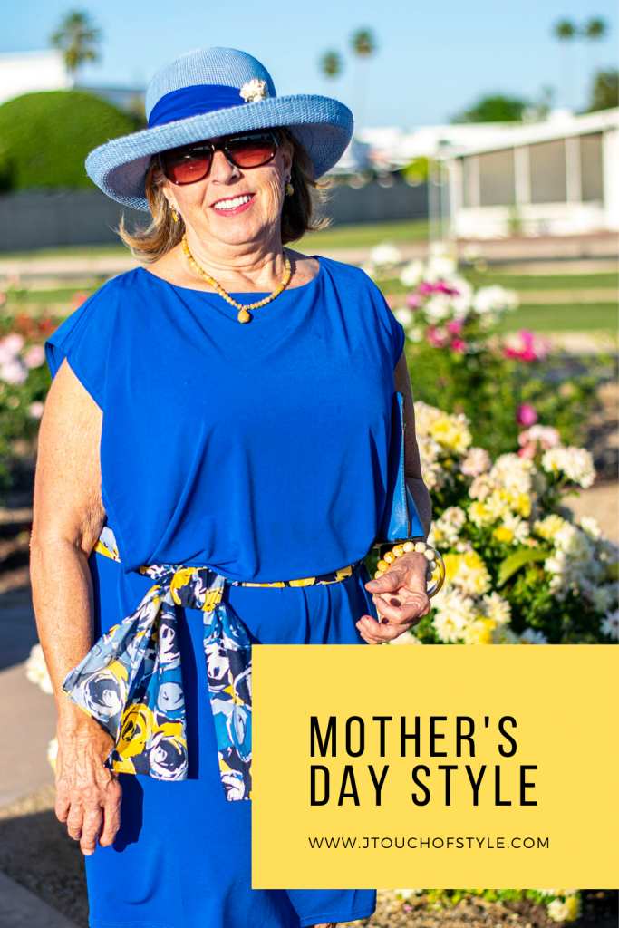 Blue dress for a Mother's Day outfit
