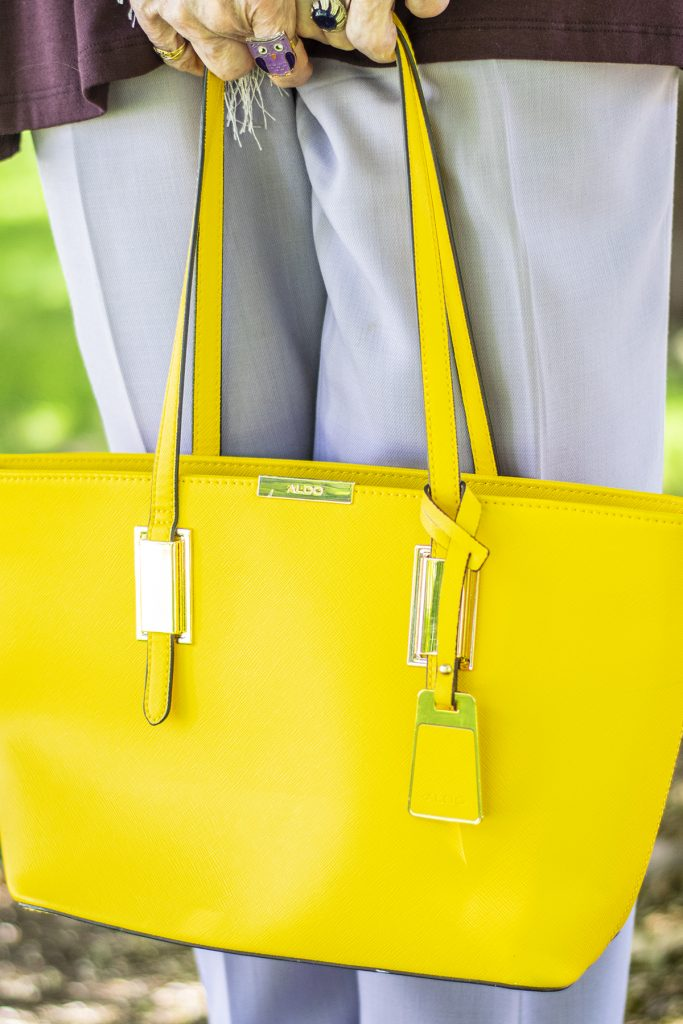Yellow purse for floral inspiration