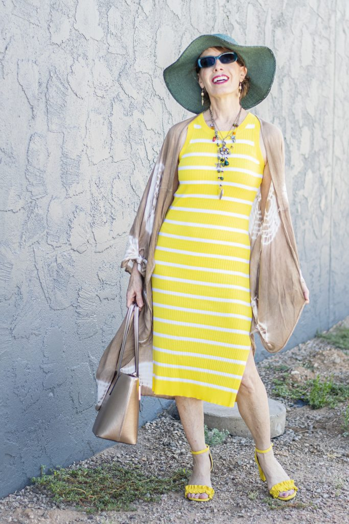 What to wear under a long kimono with a longer dress