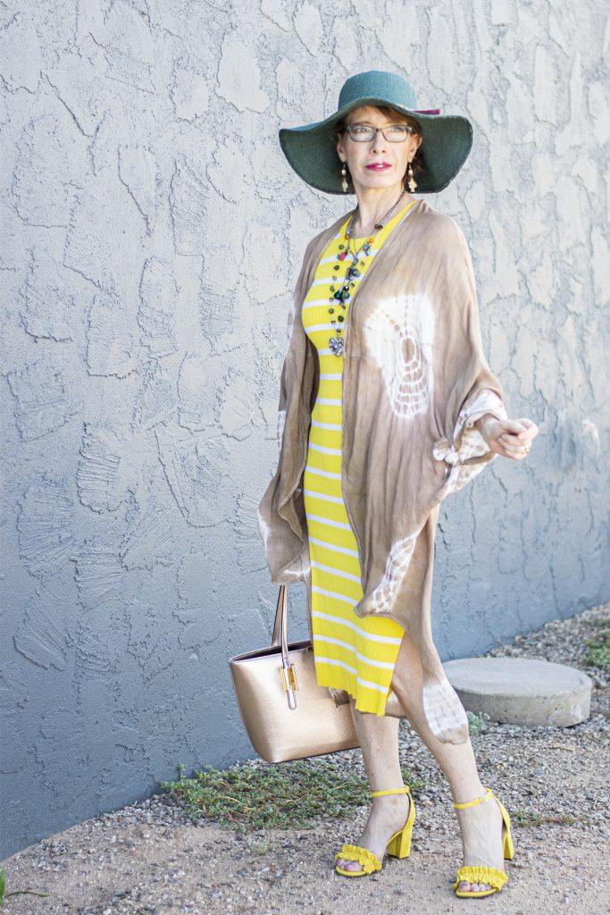 Midi dress and long kimono