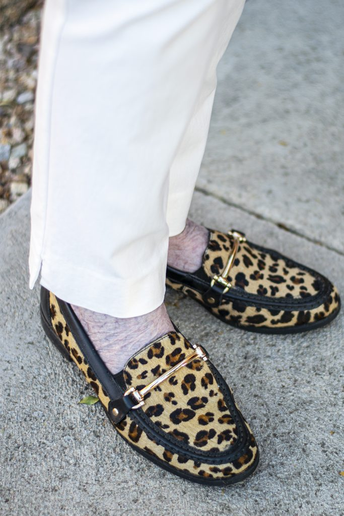 Comfy leopard loafers