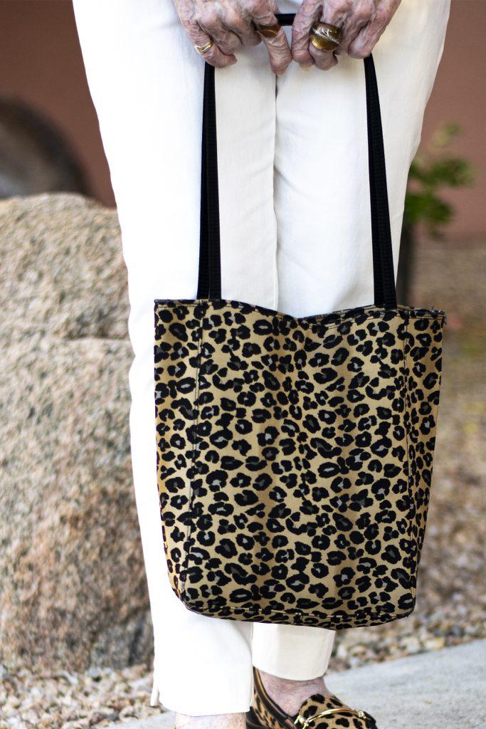 Leopard tote for women
