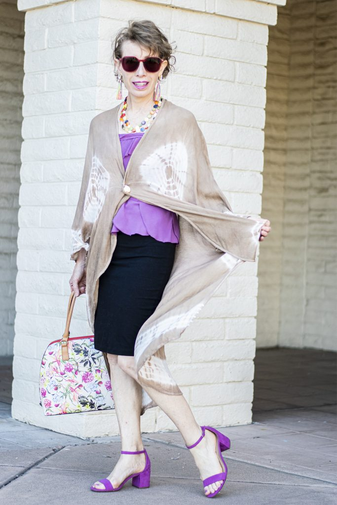 Different lengths with a long kimono