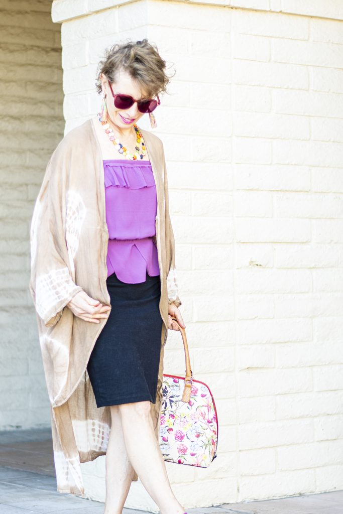What to wear under a long kimono with a skirt