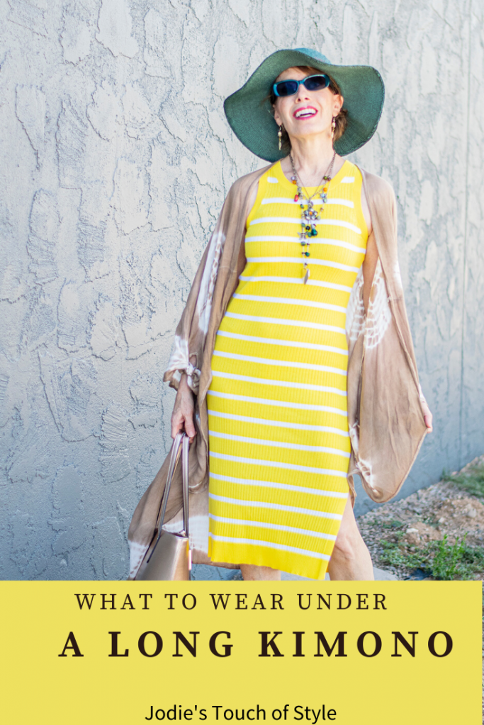 What to wear under a long kimono